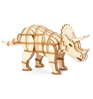 Dinosaur-puslespill Kikkerland Triceratops 3D Wooden Puzzle